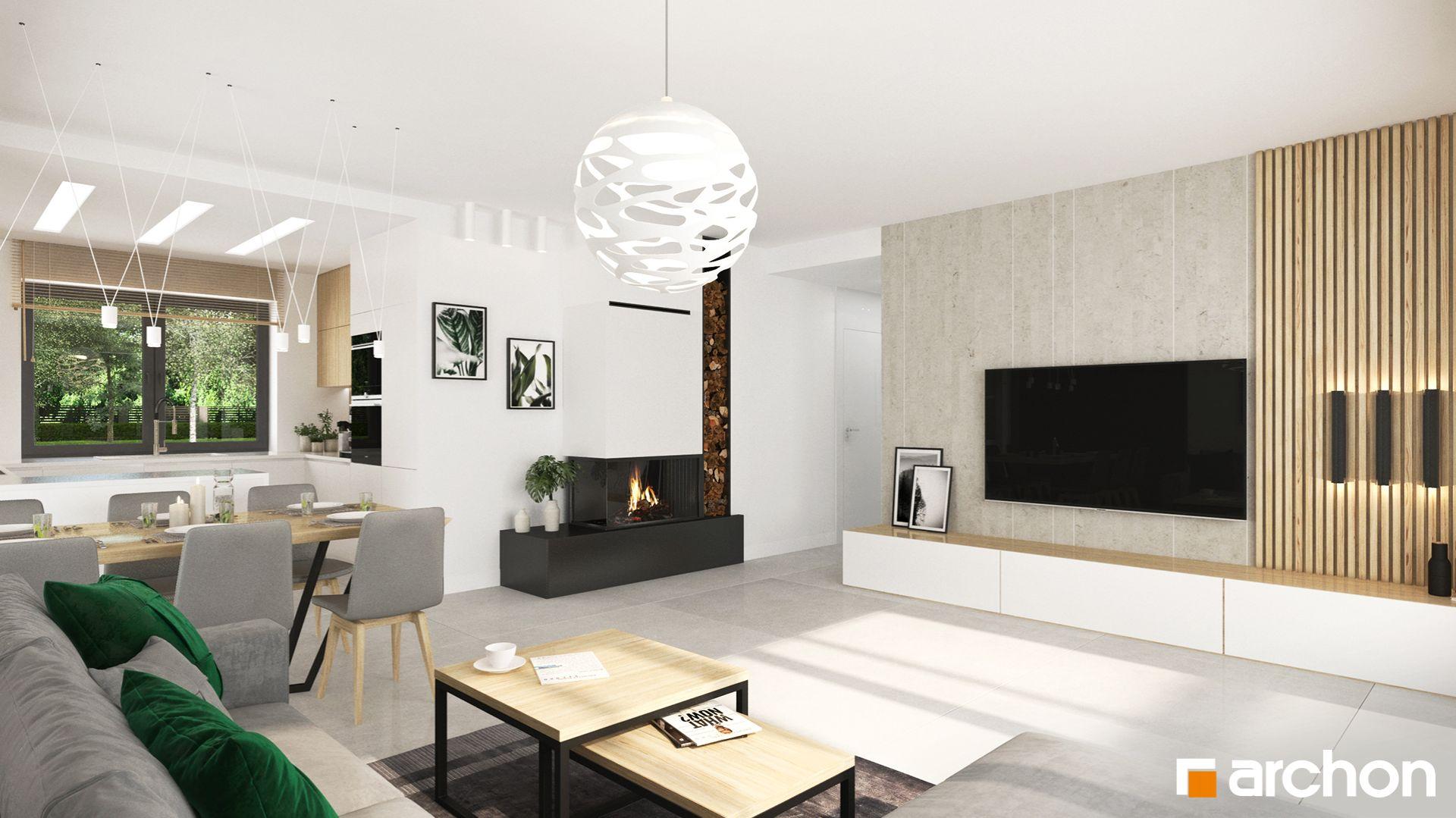 Dom w kostrzewach 4 - mała, ekonomiczna, wygodna parterówka o pow. 100 m2. Fot. Biuro Projektów ARCHON+