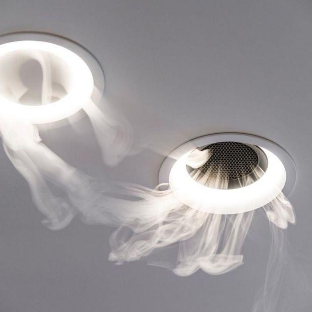 Tal Orbital - profesjonalny anemostat z wbudowaną oprawą oświetleniową oraz na życzenie głośnikiem/Produkt Design