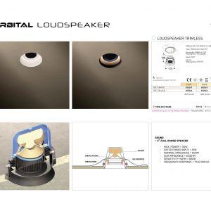 Tal Orbital - profesjonalny anemostat z wbudowaną oprawą oświetleniową oraz na życzenie głośnikiem/Produkt Design. Produkt zgłoszony do konkursu Dobry Design 2020.