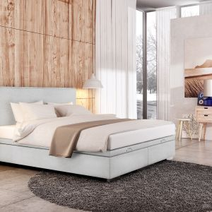 Łóżko tapicerowane Fabrizzo One KP 25 dostępne w sklepach Agata Meble. Fot. Agata Meble
