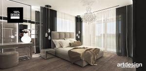 elegancka sypialnia z nutą glamour