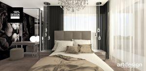 aranżacja sypialni z nutką stylu glamour