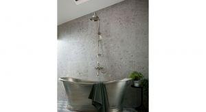 Stylowa kolumna prysznicowa montowana naściennie. Produkt zgłoszony do konkusru Dobry Design 2020.