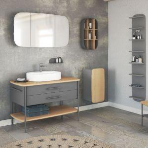 Serię Oval wyróżnia połączenie drewna dębowego z metalowymi elementami malowanymi proszkowo. Fot. Devo