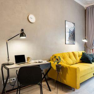 Studio w zabytkowej kamienicy w centrum Katowic/Wellcome Home. Produkt zgłoszony do konkursu Dobry Design 2020.