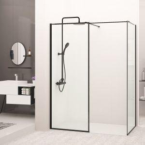 Kabina walk-in Bler składa się z dwóch ścianek z regulowanym ramieniem, co daje możliwość dopasowania do każdej łazienki. Fot. Rea
