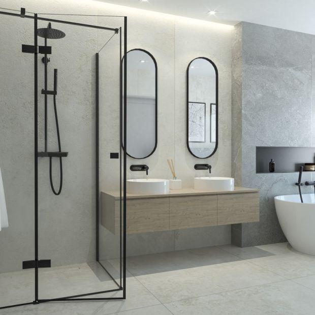 Czarne kabiny prysznicowe - łazienkowy hit!