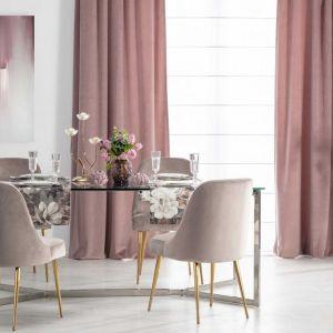 Dekoracja stołu - bieżnik prostokątny Gardenia, Świecznik Elisabeth. Fot. Dekoria