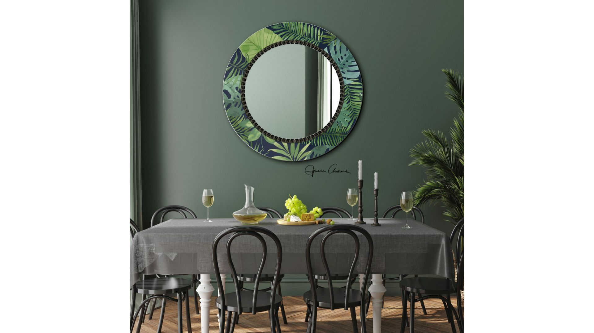 Kolekcja Decor Flower - seria oryginalnych luster/Ruke. Produkt zgłoszony do konkursu Dobry Design 2020.