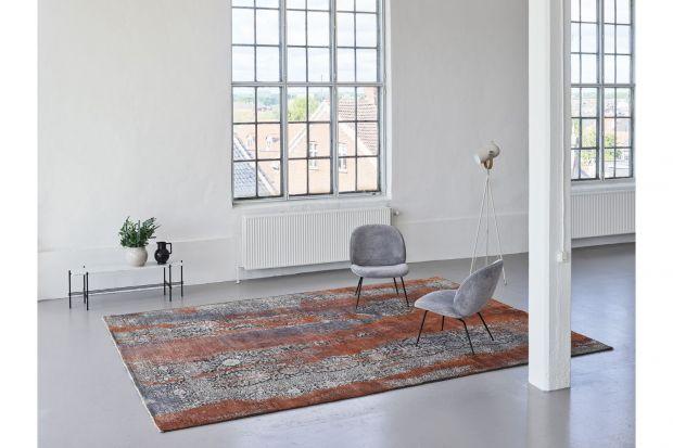 Pomarańczowo Szary Ręcznie Tkany i Strzyżony Dywan SEDUCTION 840234/Carpets&More