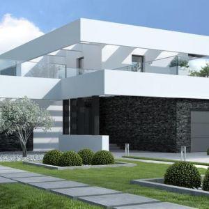 Nowoczesny dom z płaskim dachem. Dom HomeKoncept 41. Projekt: Zespół projektowy HomeKoncept. Fot. HomeKoncept