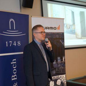 Robert Skomorowski, reprezentujący markę Purmo.