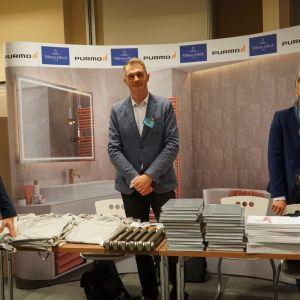 Stoisko partnerów głównych - marek Purmo i Villeroy&Boch.