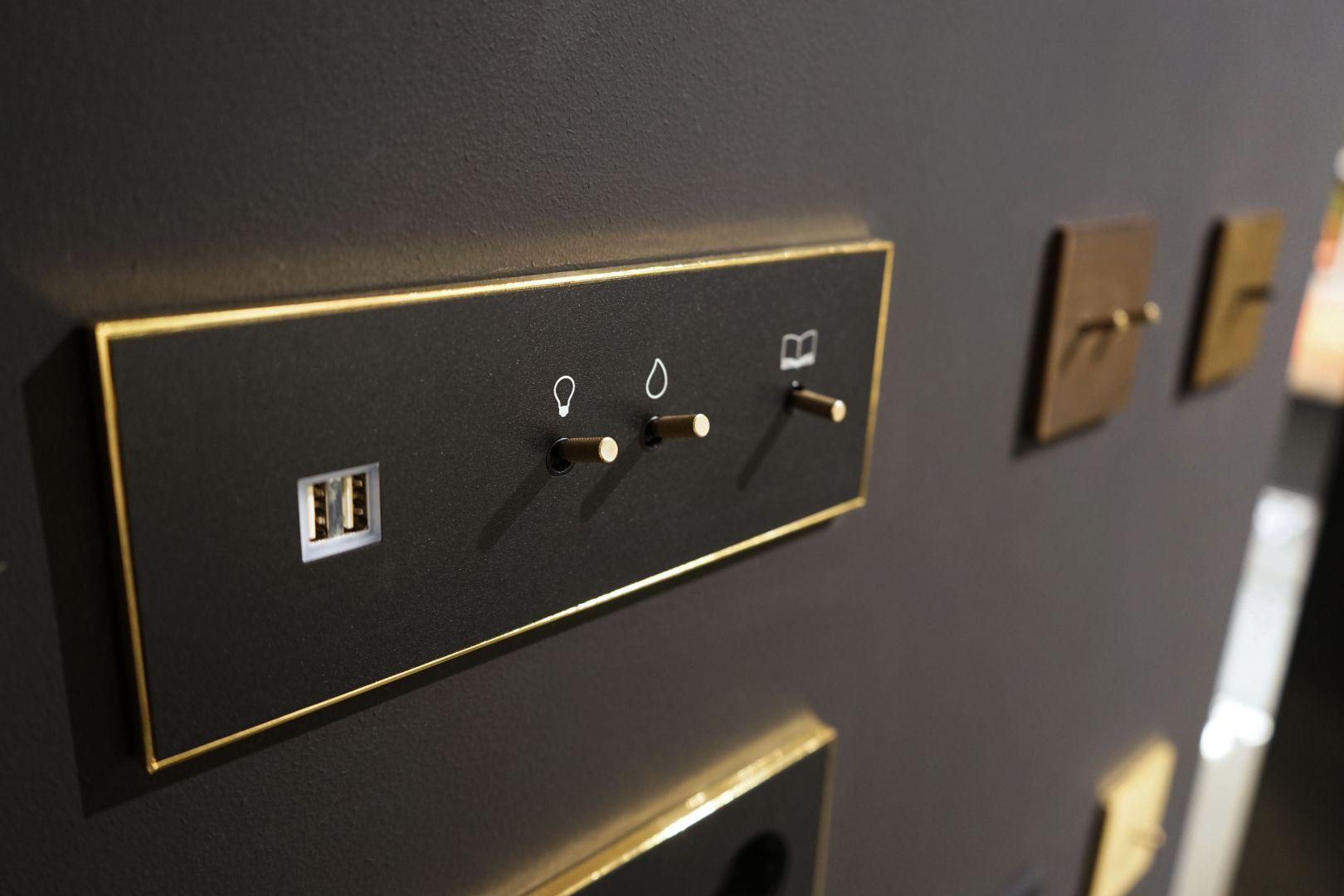 Zestaw Lithoss: Lampka + włącznik + gniazdo 230V + ładowarka USB/Produkt Design. Produkt zgłoszony do konkursu Dobry Design 2020.