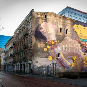 Mural autor Os Gemeos & Aryz, ŁódźFot. The Urban Forms Archive