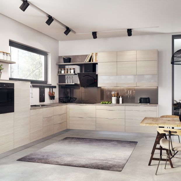 Nowoczesna kuchnia: zobacz meble w kolorze drewna