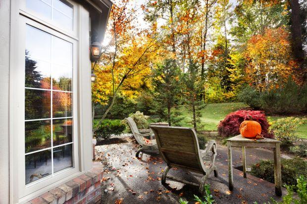 Otoczenie domu: ostatnie koszenie trawnika jesienią