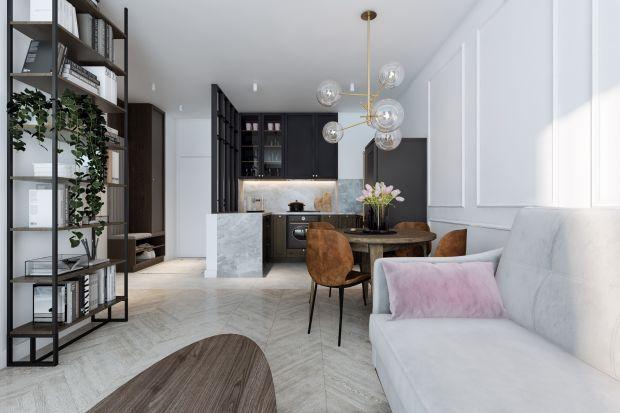 Niewielkie 46-metrowe mieszkanie zachwyca klasycznym stylem w nowoczesnym wydaniu. Znajdziemy tu eleganckie, niesztampowe rozwiązania oraz namiastkę Paryża w centrum Łodzi.