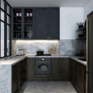 Mieszkanie o powierzchni 46 metrów kwadratowych: kuchnia. Projekt: Marta Ogrodowczyk, Marta Piórkowska. Wizualizacja: Elżbieta Paćkowska