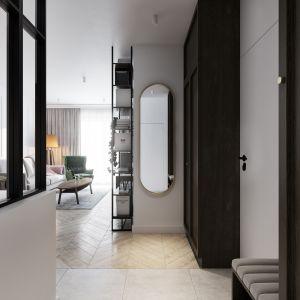 Mieszkanie o powierzchni 46 metrów kwadratowych: przedpokój. Projekt: Marta Ogrodowczyk, Marta Piórkowska. Wizualizacja: Elżbieta Paćkowska