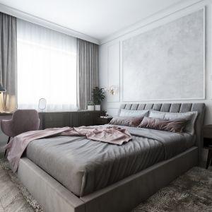 Mieszkanie o powierzchni 46 metrów kwadratowych: sypialnia. Projekt: Marta Ogrodowczyk, Marta Piórkowska. Wizualizacja: Elżbieta Paćkowska