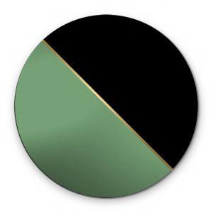 Dekoracyjne okrągłe lustro Demi z cienkim paskiem mosiądzu. Fot. GieraDesign
