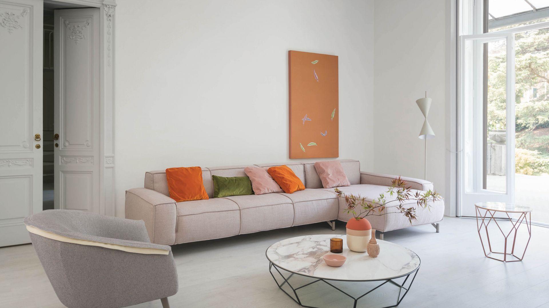 Modułowa sofa Peanut  pozwala na stworzenie kompozycji, która dopasuje się do każdej przestrzeni i stylu. Fot. Bonaldo