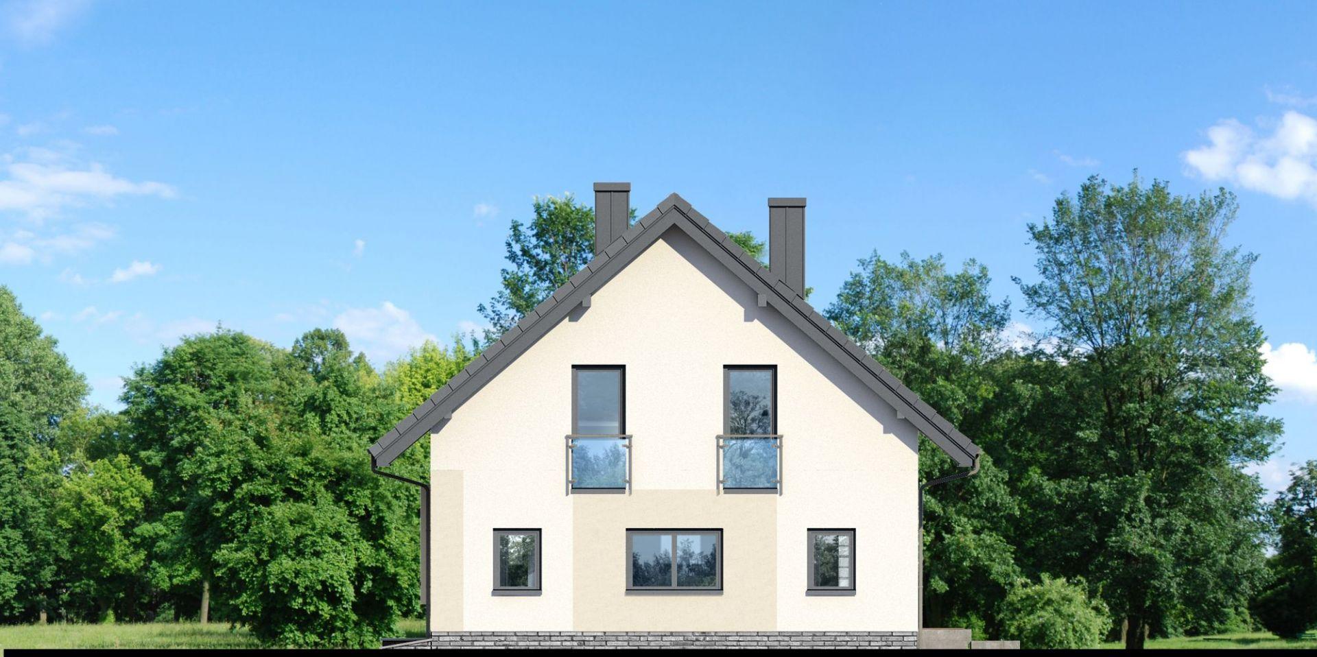Widok elewacji. Dom w zdrojówkach. Projekt: Zespół Projektowy Archon+, Fot. Archon+