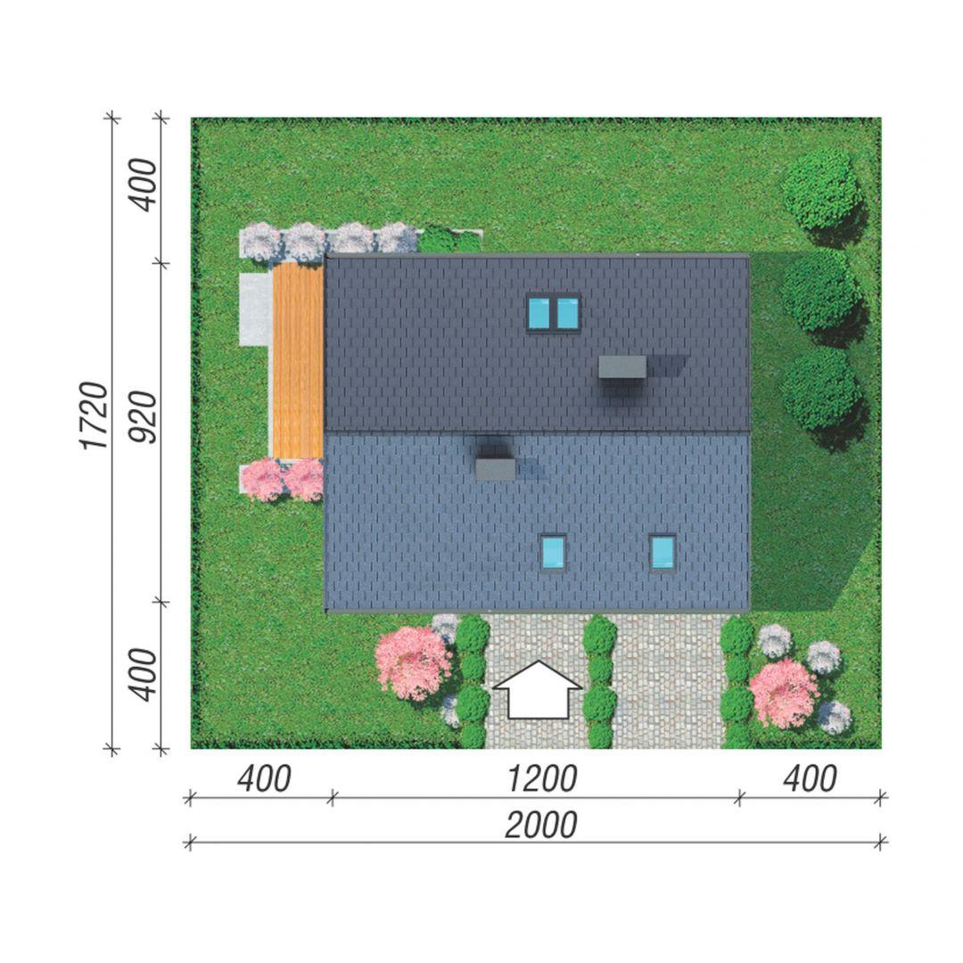 Usytuowanie domu na działce. Dom w zdrojówkach. Projekt: Zespół Projektowy Archon+, Fot. Archon+