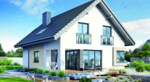 Dom w zdrojówkach to niewielki dom zaprojektowany z myślą o 4-5-osobowej rodzinie. W klasycznej bryle przekrytej dwuspadowym dachem zawarto bogaty program funkcjonalny.