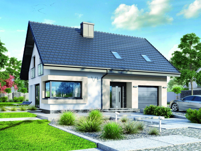 Dom w zdrojówkach to niewielki dom zaprojektowany z myślą o 4-5-osobowej rodzinie. Projekt: Zespół Projektowy Archon+, Fot. Archon+
