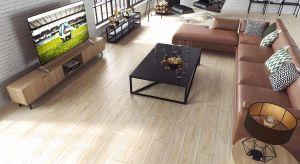 Podłogi drewniane lub z rysunkiem drewna są obecnie niezwykle modne. Warto wiedzieć, że są również praktyczne, dlatego możemy je układać w różnych pomieszaniach oraz wnętrzach otwartych,łączących różne funkcje.
