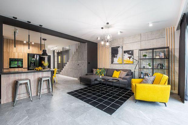 Nowoczesne wnętrze: biało-szare z nutą żółtego. Zobacz je koniecznie!