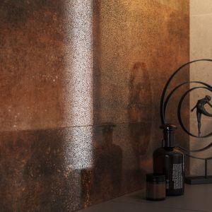 Płytki ceramiczne do łazienki: kolekcja Dern Copper Rust Lappato marki Cersanit. Fot. Cersanit