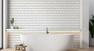Model Heksalong to niezwykle efektowna mozaika ceramiczna o rewolucyjnym kształcie przedłużonych heksagonów. Ułożone na ścianie przypominają plaster miodu.