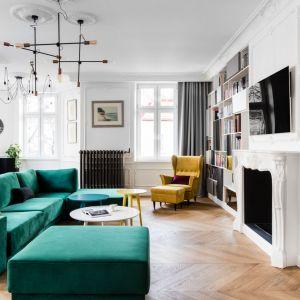 Salon w klasycznym stylu. Projekt: Anna Maria Sokołowska. Fot. FotoMohito