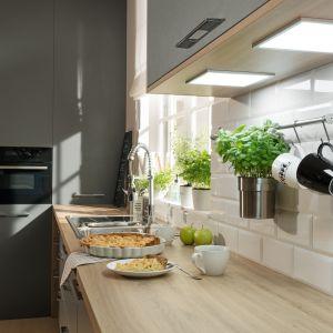 Systemy oświetlenia Loox LED to prostota instalacji, wygoda i estetyka. Oparty na łatwych w montażu modułach, doda klimatu w kuchni i doświetli blaty. Fot. Häfele