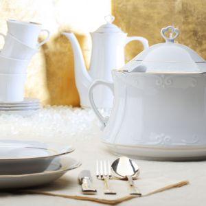 Porcelana na święta: kolekcja Kamelia w stylu Scandi Chic. Fot. Polska Grupa Porcelanowa