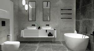 Satynowe, czarne dodatki dodadzą łazience charakteru i będą efektownie harmonizować z czarną armaturą. Świetnie odnajdują się w pomieszczeniach urządzonych w stylu loftowym.
