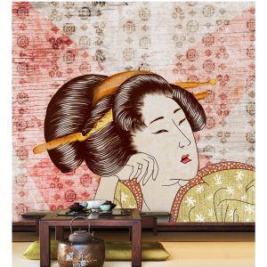 Ekologiczne fototapety Wallpepper, wzór Classic_Geisha. Fot. Wallpepper / tapetujemy.pl