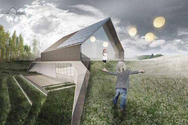 Ground House - dom ekologiczny. Projekt nagrodzony w konkursie Multi EKO Dom