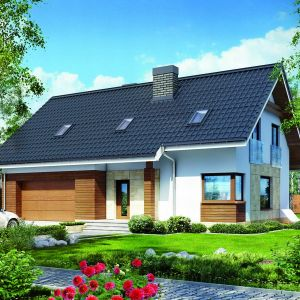 Kluczową zaletą domów z poddaszem są stosunkowo niskie koszty budowy oraz naturalny, czytelny podział wnętrza na strefy dzienną i nocną. Proj. Dom w jabłonkach, ARCHON+ Biuro Projektów