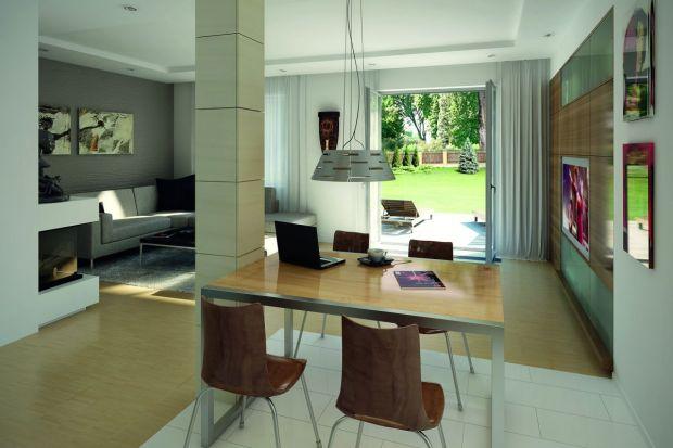 """Funkcjonalne i eleganckie wykończenie blisko 140-metrowego domu nie jest łatwym zadaniem. Wnętrze """"Cyprysa 3"""" urzeka prostymi formami i stonowanymi barwami."""
