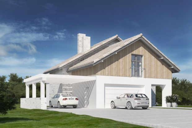 Duży dom z garażem. Zobacz ciekawy projekt
