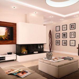 Wnętrze domu energooszczędnego możemy urządzić w dowolny sposób. Warto pamiętać, że otwarta strefa dzienna sprzyja równomiernemu rozkładowi temperatury w domu. Proj. Jeżyna. Fot. MTM Styl