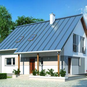 Dom energooszczędny charakteryzuje się prostą bryłą. Proj. Jeżyna. Fot. MTM Styl
