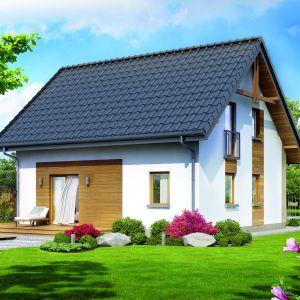 Wielkość i stylistyka tarasu powinna komponować się z bryłą domu. Proj. Dom w zielistkach, Fot. Archon + Biuro Projektów