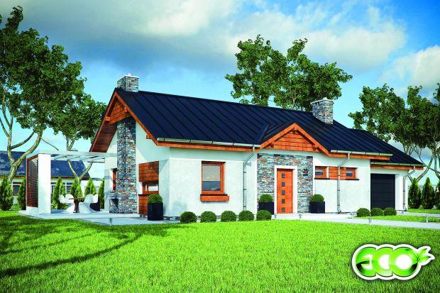 Mały, nowoczesny dom z garażem