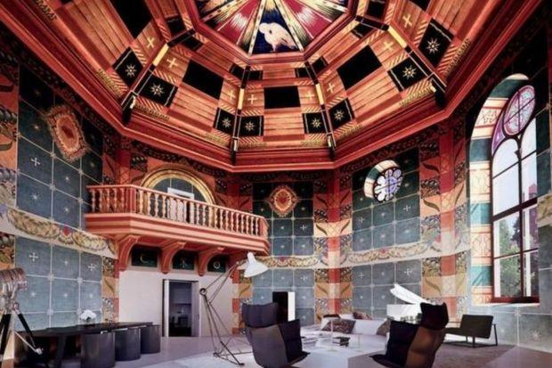 Apartament Królewski, który powstaje w kompleksie Angel Wawel u podnóża Wawelu to aktualnie największy i najdroższy penthouse powstający w Polsce. Widok na Wawel, zabytkowe polichromie i prawie 700 mkw powierzchni to tylko kilka cech, które opisuj