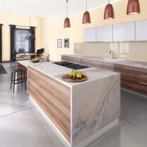 W kuchni zawsze znajdzie się miejsce na odrobinę brązu i beżu. Zastosowany kolor: zniewalająca wanilia.